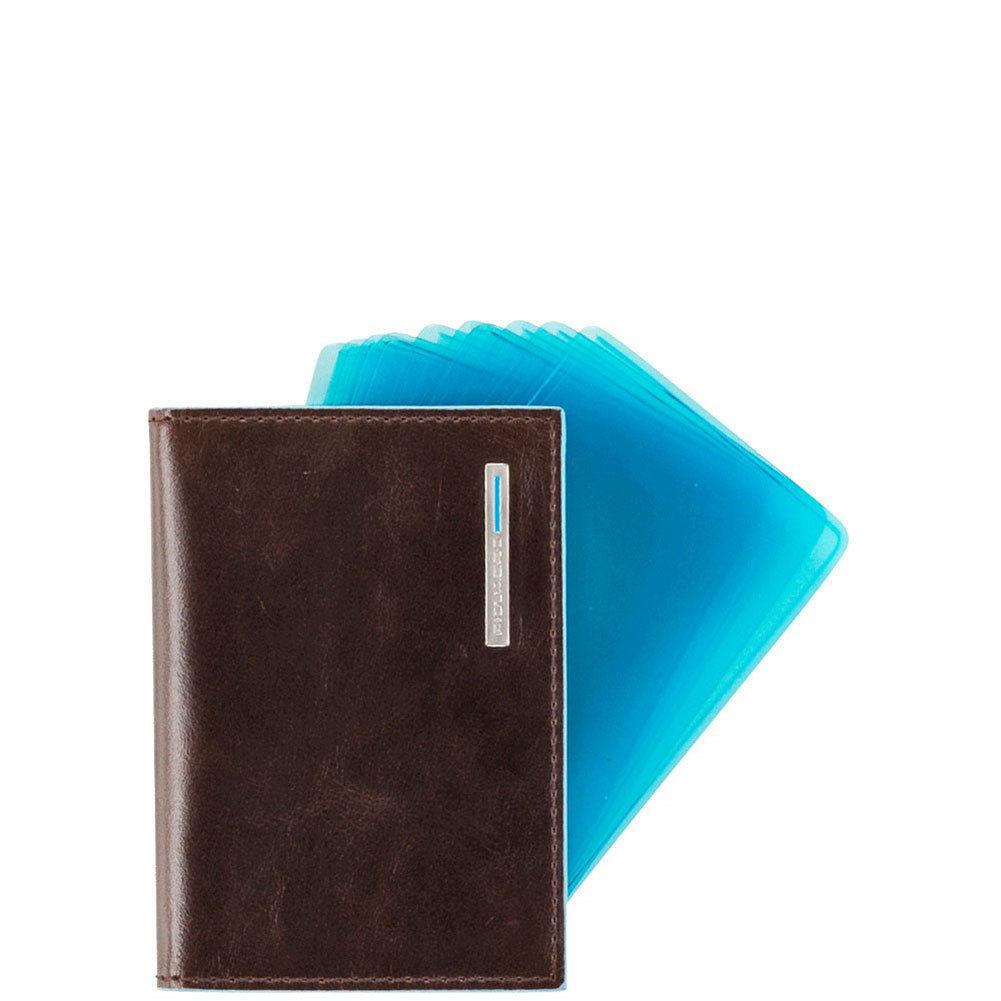 Porta carte di credito a ventaglio blue square piquadro - Porta a ventaglio ...