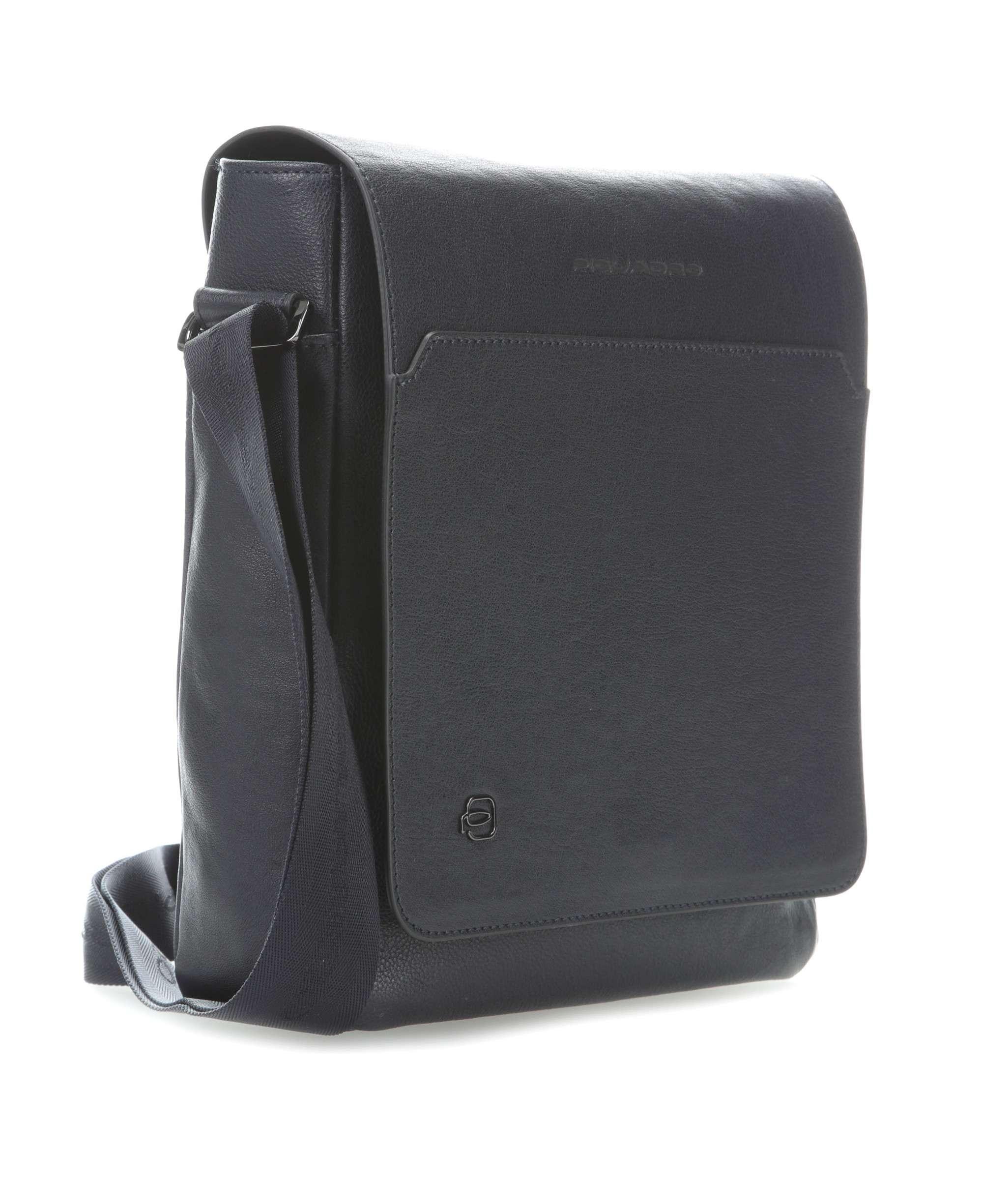 nuovo prodotto eb988 98f95 Borsa a tracolla Piquadro pelle blu scuro Black Square CA1593B3 ...
